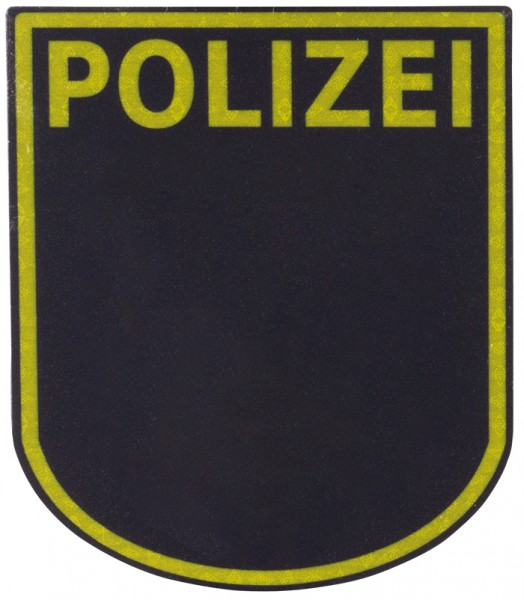 Ärmelabzeichen Polizei Sachsen Reflektierend