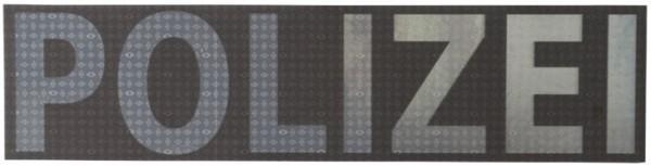 Schriftzug Polizei Steingrau Reflektierend 28 x 7 cm