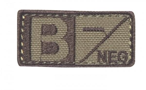 Blutgruppenpatch Coyote/Braun B neg - 229B-003