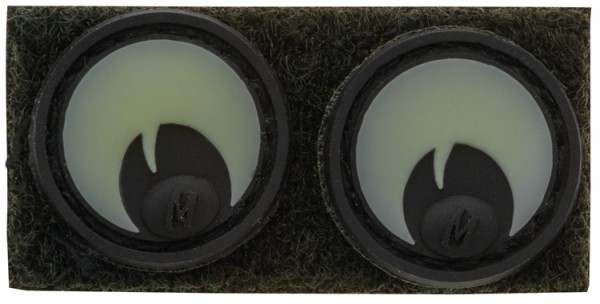 Maxpedition Rubber Patch GOOGLY EYES Glow