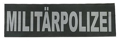 Reflektierender Schriftzug Groß Militärpolizei