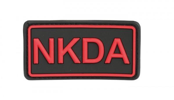 3D Rubber Patch NKDA Schwarz/Rot