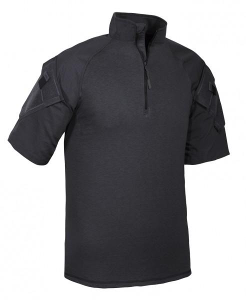 TRU-SPEC 1/4 Zip Combat Shirt Kurzarm Schwarz