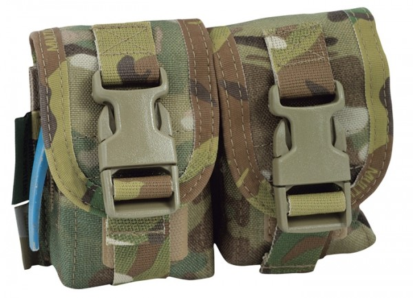 Warrior Double Frag Pouch Multicam