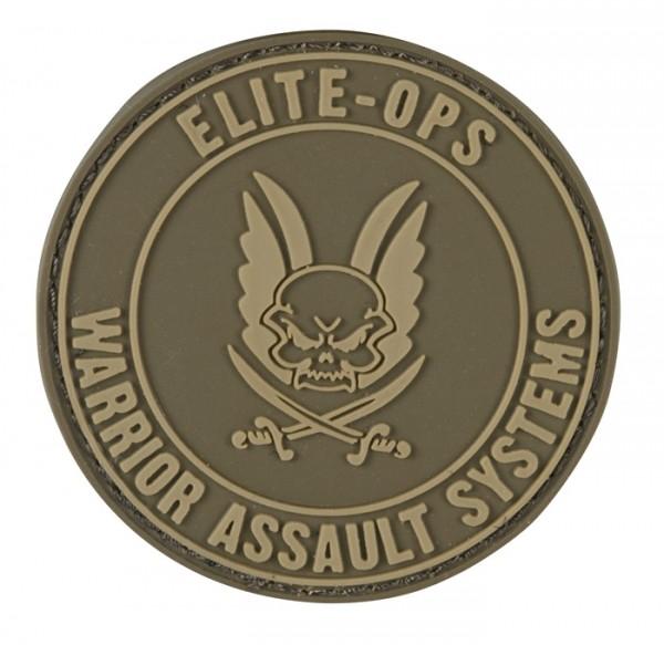Warrior EliteOps RubberPatch Round Logo Dark Earth