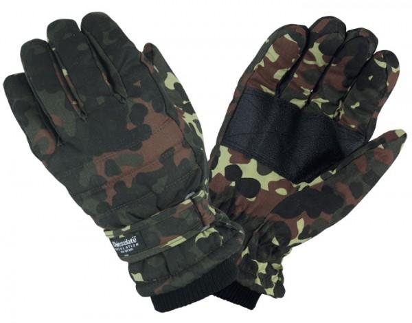 Thermo Handschuhe mit Thinsulate Futter Flecktarn