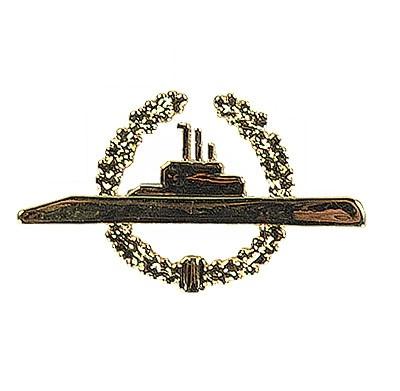 U-Boot Metallabzeichen Gold