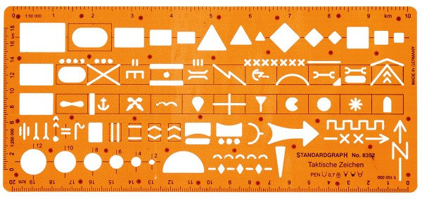 Standardgraph Schablone für Taktische Zeichen