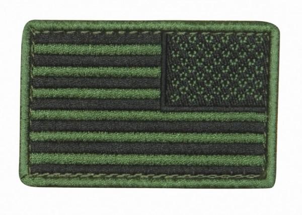 US Flagge Oliv/Schwarz Textil/Klett - Reverse