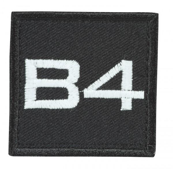 Truppkennzeichnung Schwarz mit Klett B4