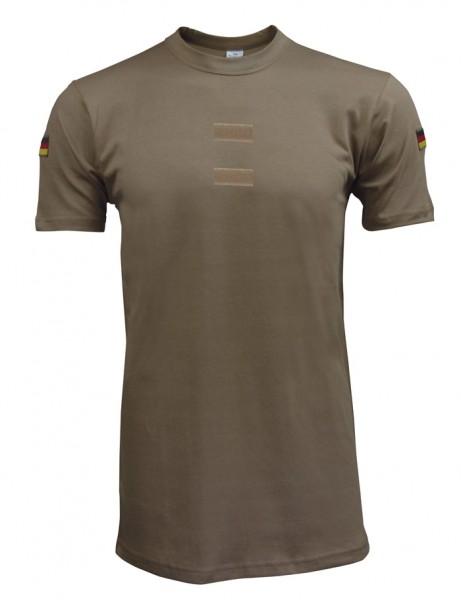 BW Tropenunterhemd mit Dienstgradklettfläche Beige