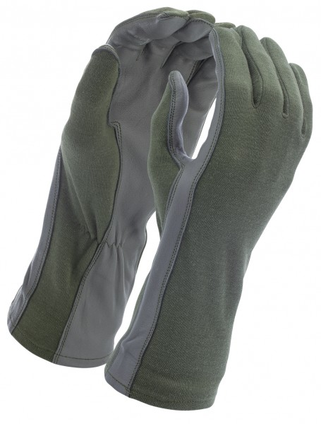 Piloten Handschuhe Nomex Oliv
