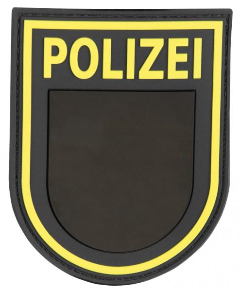3D Ärmelabzeichen Polizei Sachsen (Schwarz)