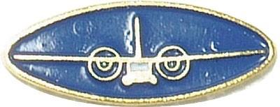 BW Mützenanstecker Metall Transall Blau