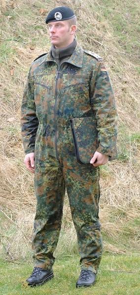 BW Panzerkombi Flecktarn Neu