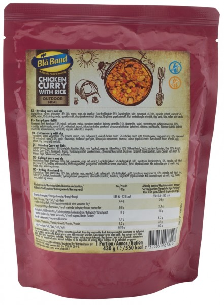 Bla Band Outdoor Meal Wet Pouch - Chicken Curry