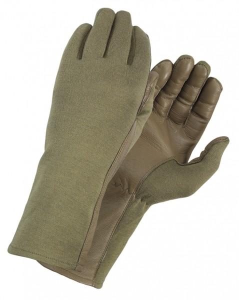 Piloten Handschuhe Nomex Coyote