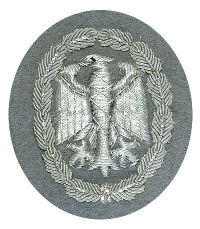 BW Leistungsabzeichen Handgestickt Silber