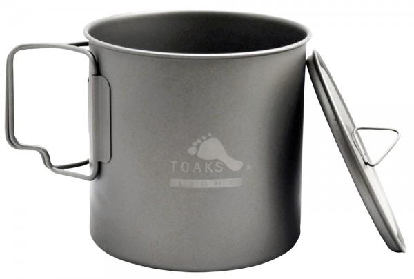 Toaks Titanium Pot 650 ml Ultralight mit Deckel