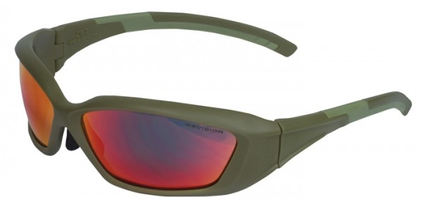 Revision Brille Hellfly Khaki/ Flame Mirror