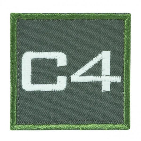 Truppkennzeichnung Oliv mit Klett C4