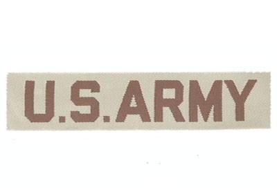 Schriftzug US-Army Desert Textil