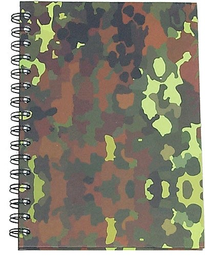 Spiral notepad A4 80 sheets camouflage