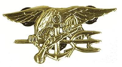 US SEAL-Trident Metallabzeichen Gold