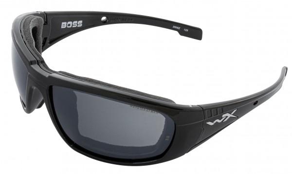 Wiley X Boss Sonnenbrille Grey Silver Flash