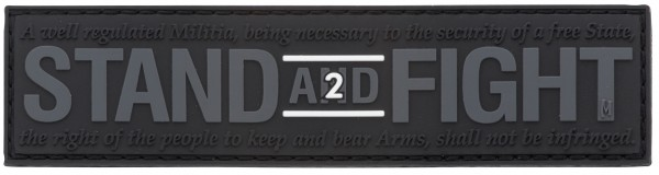 Maxpedition Rubber Patch STAND AND FIGHT Swat