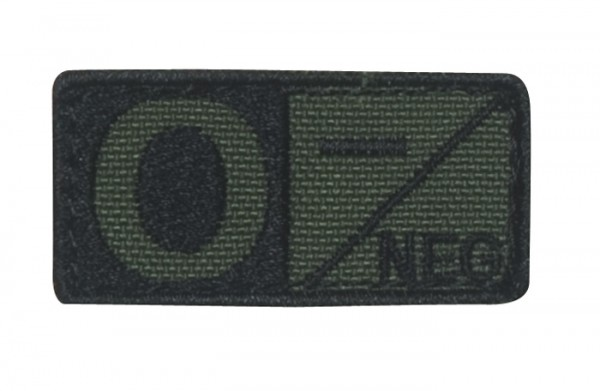 Blutgruppenpatch Oliv/Schwarz O neg - 229O-001