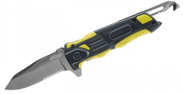 Walther PRO Rescue Knife Schwarz/Gelb mit Etui