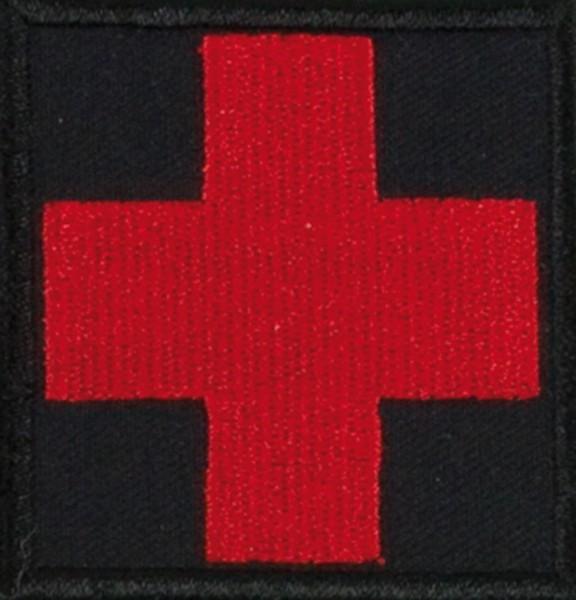 Medic Kreuz Schwarz/Rot mit Klett Groß