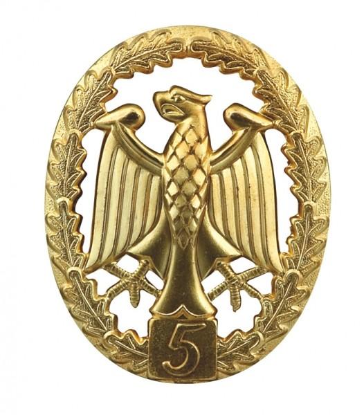 BW Leistungsabzeichen - Metall- Gold-Stufe 5