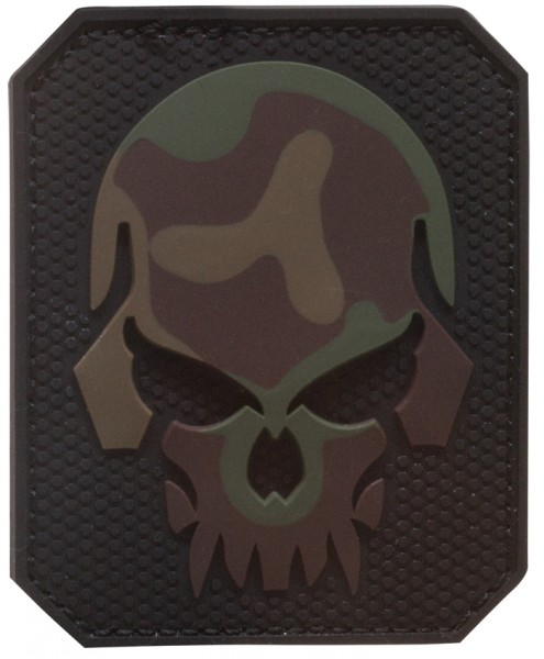 3D Rubber Patch Skull