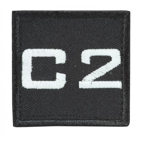 Truppkennzeichnung Schwarz mit Klett C2