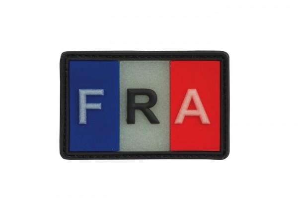 3D Rubber Patch Frankreich FRA Bunt