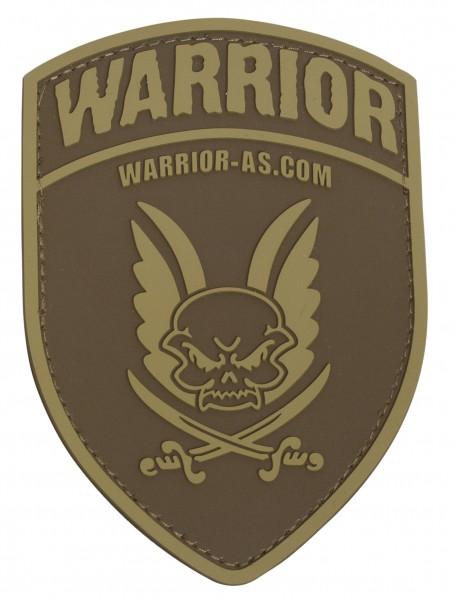 Warrior AS Rubber Patch Logo Shield Dark Earth