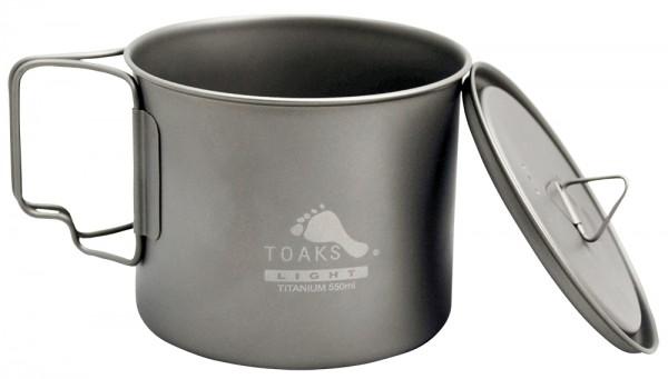 Toaks Titanium Pot 550 ml Ultralight mit Deckel
