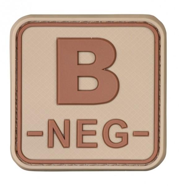 3D Blutgruppenpatch 50x50 Khaki/Braun B neg -