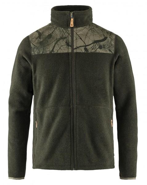 Fjällräven Lappland Fleece Jacket Camo Green