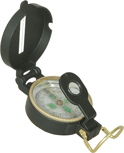 US Kompass Metall Gehäuse Schwarz