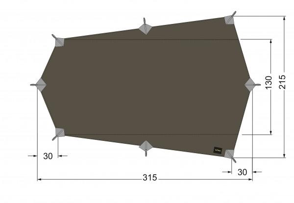 Tatonka Tarp Wing 2 LT Ultraleicht 315 x 215 cm