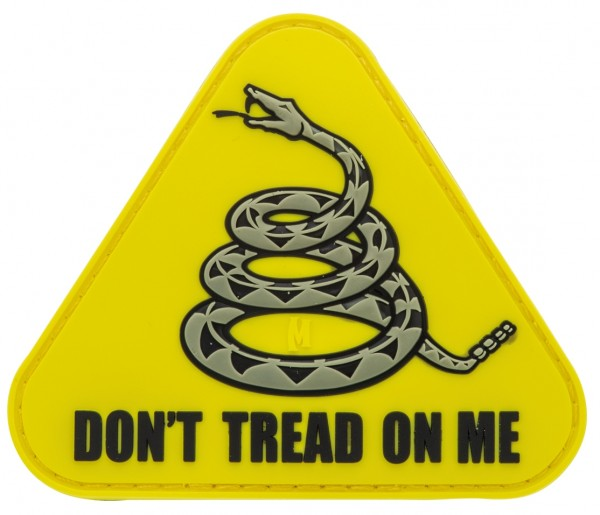 Maxpedition Rubber Patch DON'T TREAD ON ME Gelb