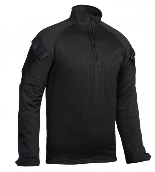 TRU-SPEC Combat Shirt Cold Weather 1/4 Zip Schwarz