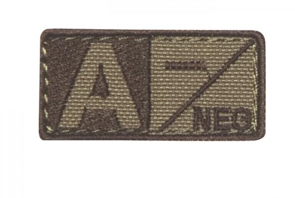 Blutgruppenpatch Coyote/Braun A neg - 229A-N-003