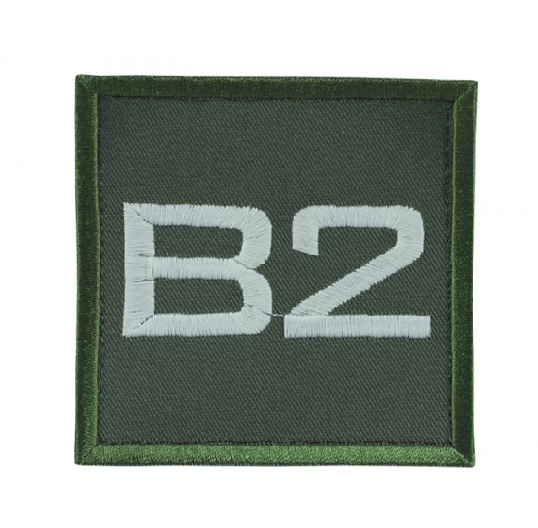 Truppkennzeichnung Oliv mit Klett B2