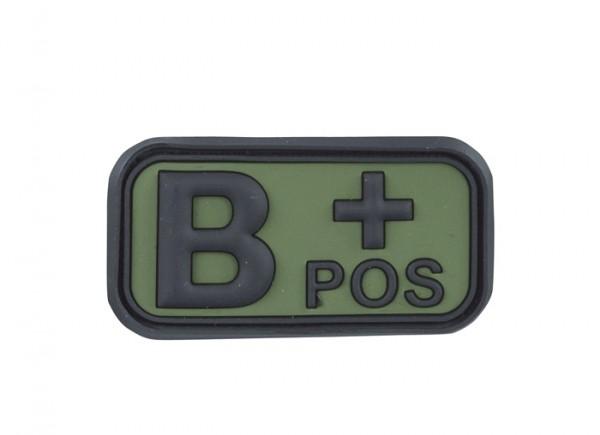 3D Blutgruppenpatch Oliv/Schwarz B pos +