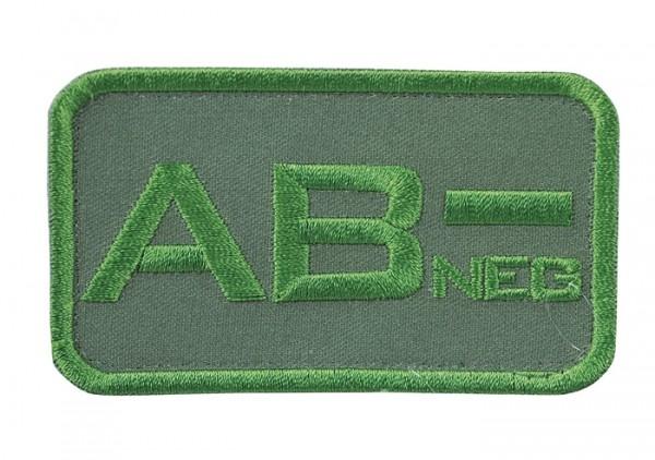 Blutgruppenkennzeichnung Oliv AB neg -