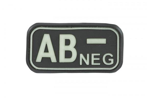 3D Blutgruppenpatch Schwarz/Glow AB neg -